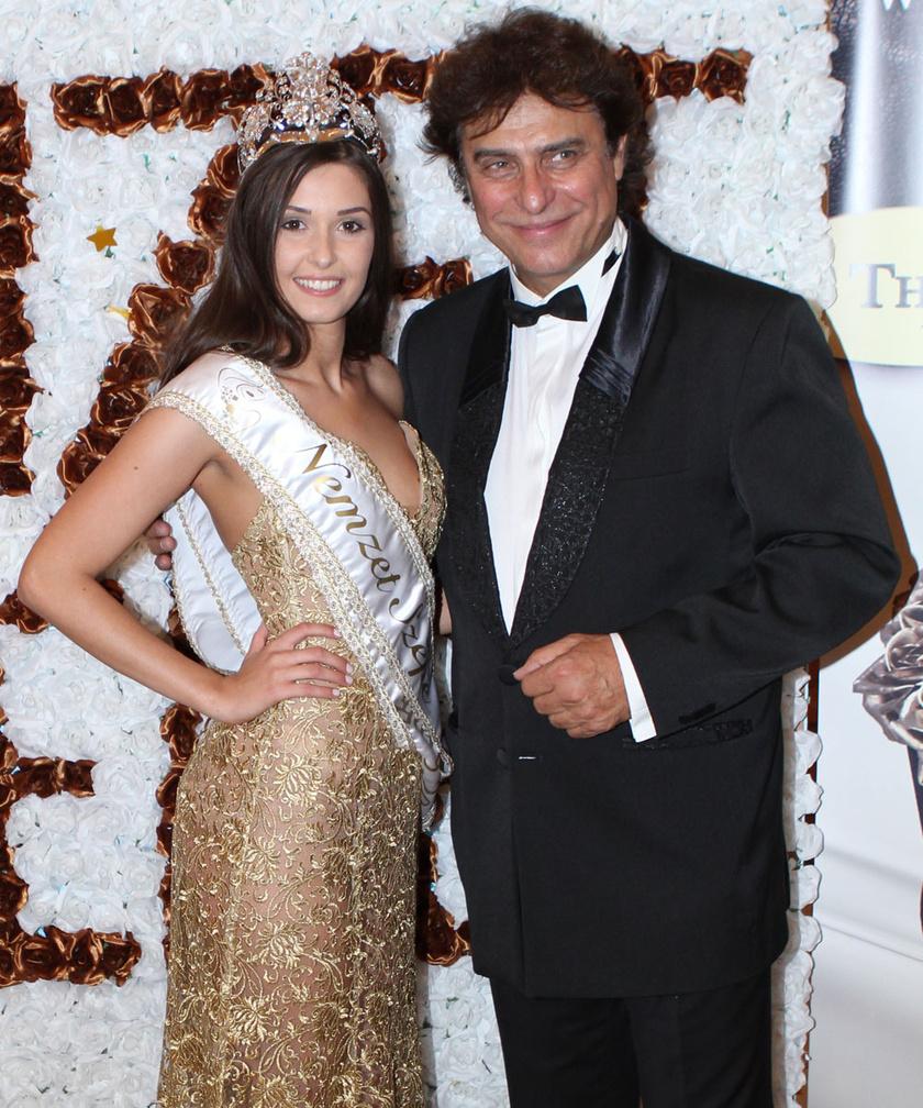 A Nemzet Szépe 2017 győztese és az est házigazdája, Gergely Róbert.