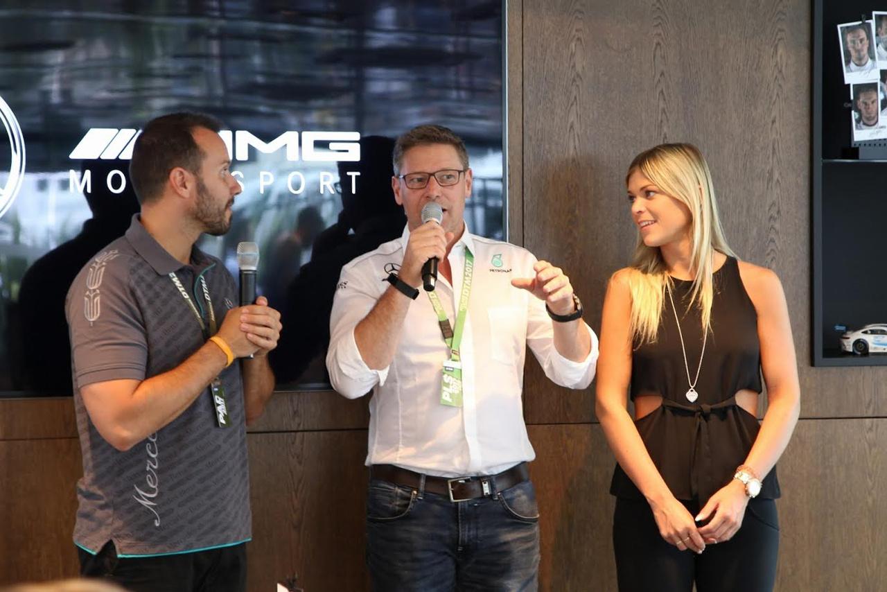 Ebédszünetben Benrd Mayländer, a Formula-1-es Safety Car pilótája tartott izgalmas előadást, ahol például elárulta, hogy hótt nyugodtan alszik, amikor pl. Hamilton tépi neki a száját feleslegesen az általa diktált tempót kritizálva. A DTM volt az elérhető, a Forma-1 a megfoghatatlan álom számára, mégis már 18 éve terelgeti ott az éppen aktuális hivatalos biztonsági autót