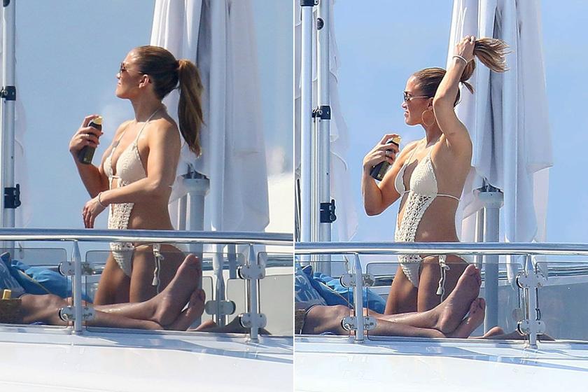 Jennifer Lopez horgolt monokinije alighanem a nyár nagy slágere lesz - a rajongók már most imádják a merész darabot.
