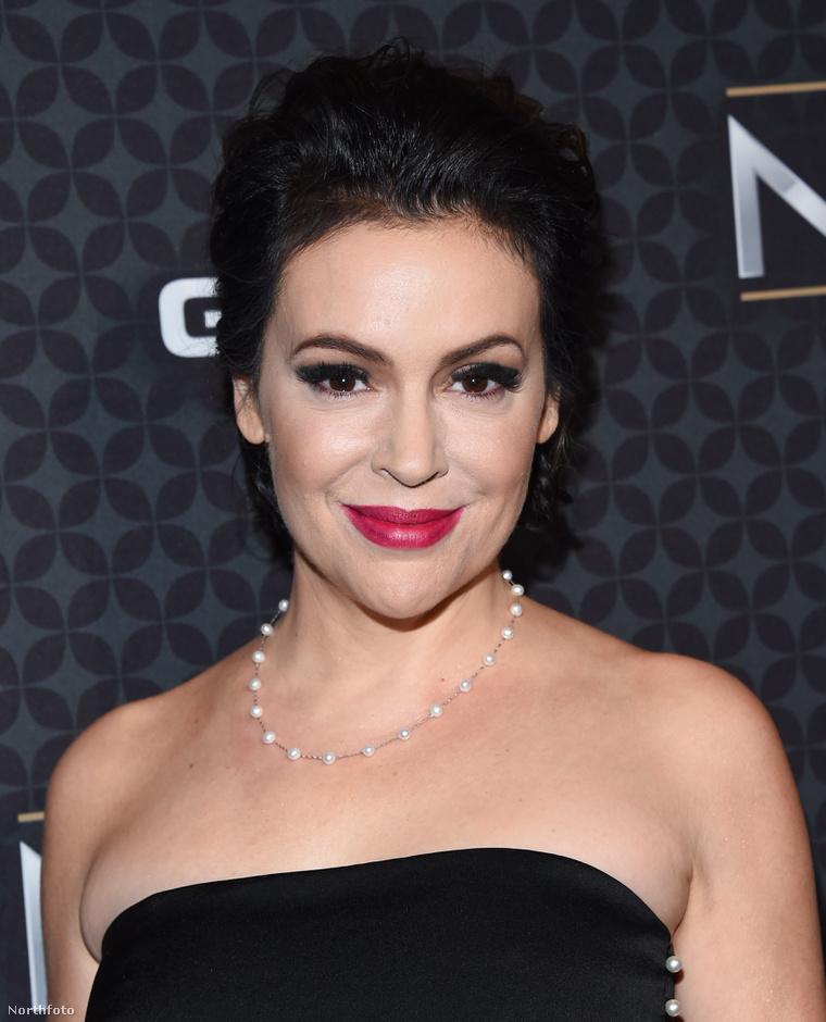 Alyssa Milano idén februárban Los Angelesben.
