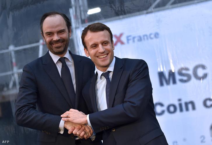 Édouard Philippe és Emmanuel Macron