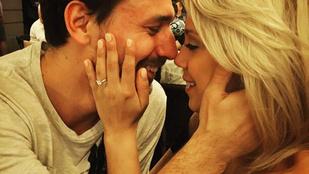 Meglepően vad képet posztolt magukról Kiss Ramóna vőlegénye