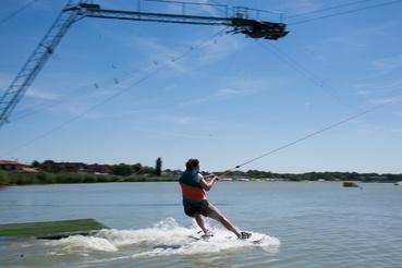 Egy átlagos, kezdő wakeboardos.