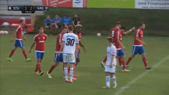 Vasas-Sturm Graz 0-3-ról 4-3, 30 m-es góllal