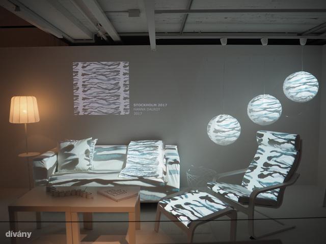 Többek között ezt a szövetmintát tervezte Hanna Dalrot, akivel beszélgettünk a textiltervezés nehézségeiről és arról, hogy milyen viszontlátni az embereken a mintáit.