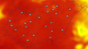 Rettenetes hőség lesz, riasztott a meteorológiai szolgálat