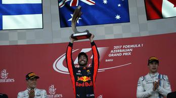 Káosz Vettel-őrülettel és Ricciardo-győzelemmel Bakuban