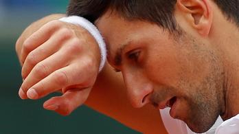 Djokovics: Szó szerint fejjel mentem a falnak