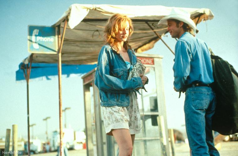 Geena Davis és Brad Pitt a film egyik jelenetében.