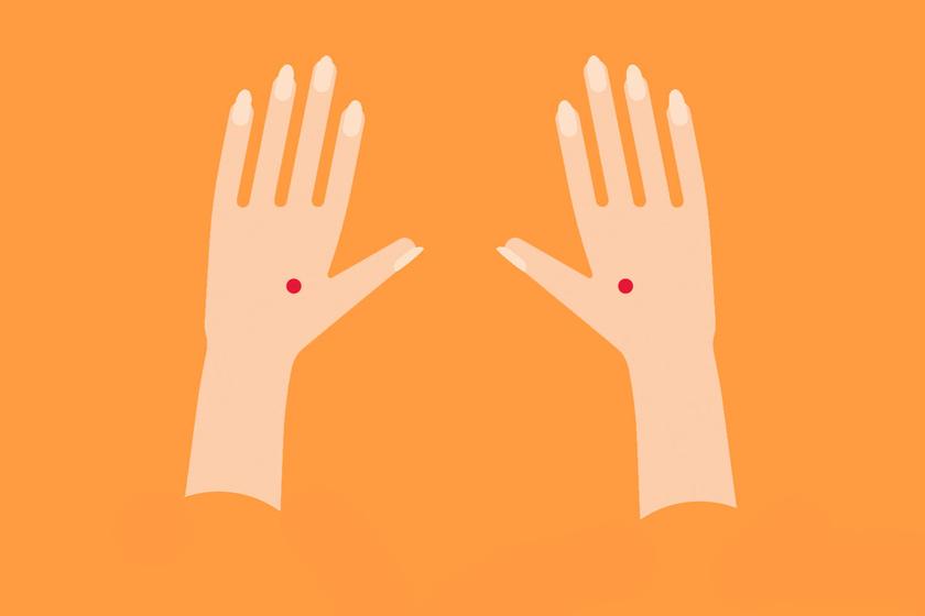 Ha külön csak a hüvelykujjad mozgatod fel-le, éppen ott moccan meg a kézfejed, ahol meg kell nyomnod, ha oldani szeretnéd magadban a stresszt.