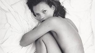 Soha nem látott felvételek kerültek elő a 18 évesen félmeztelenkedő Kate Mossról