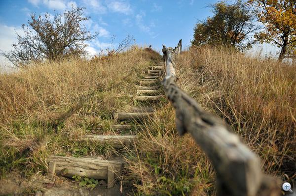 A sztúpához vezető lépcsősor
