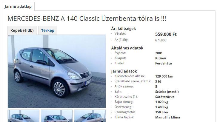mercedesa140