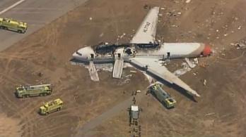 Megrázó felvételek kerültek elő a 2013-ban lezuhant San Franciscó-i gépről