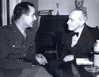 Samuel Barber (balra) és a neves karmester, Serge Koussevitzky