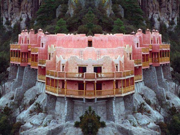 Sugar Pink Clifftop Hotel (Cukor-rózsaszínű hegycsúcs szálló) , Mexikó