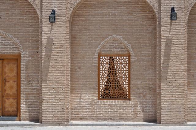 Egy pompás épület részlete az iráni Jazd óvárosában