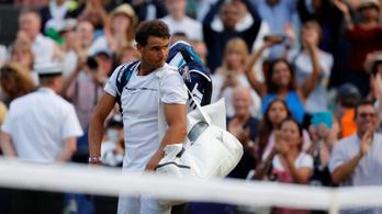 Nadal hiába állt fel 0-2-ről, ötórás csatában elbukta a wimbledoni nyolcaddöntőt
