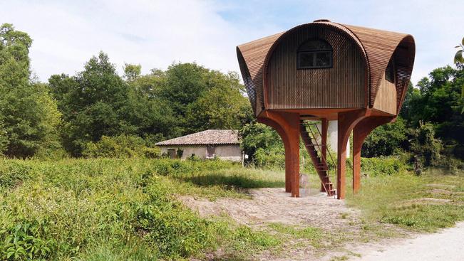 Ingyen alhat ebben a dizájn menedékházban Bordeaux mellett
