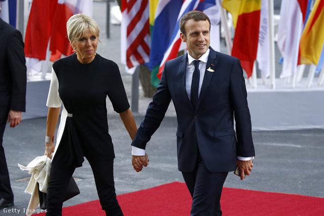 Brigitte Macron és Emmanuel Macron