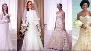 És te hogy néznél ki anyukád esküvői ruhájában?