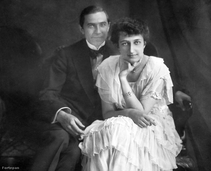 Lugosi Béla színművész és első felesége, Szmik Ilona, 1918