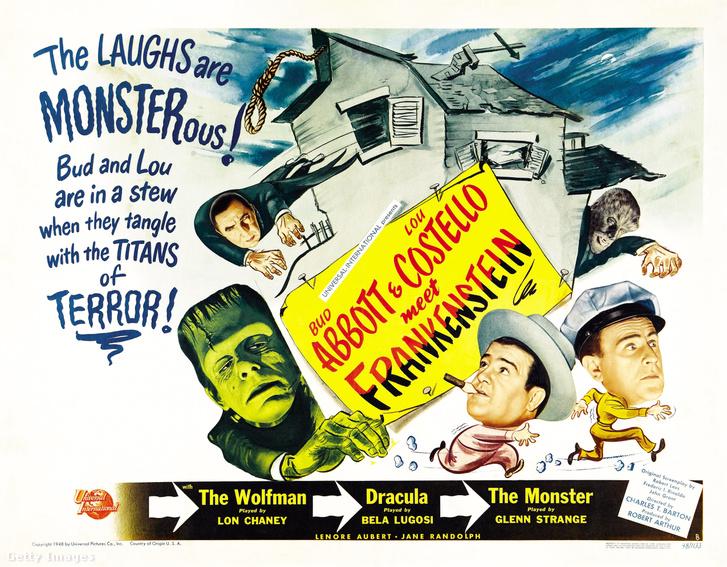 Az 1948-as Bud Abbott és Lou Costelli találkozik Frankensteinnel - a műfajparódiában természetesen Drakulát alakította