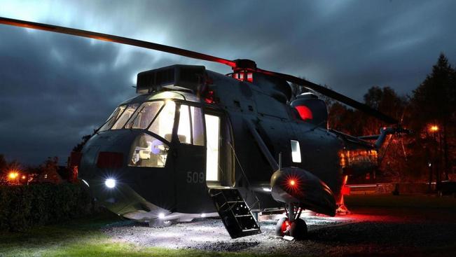 Luxusnyaralóvá varázsolt helikopter