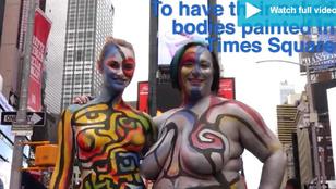 Vajon milyen meztelen női test népszerű a Time Square-en?