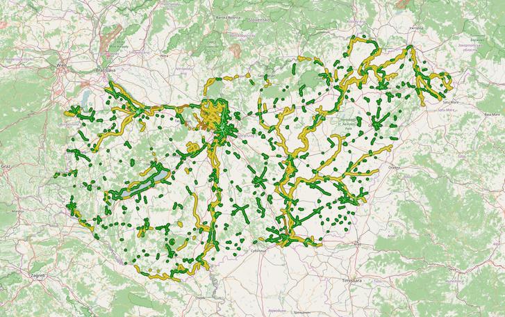 Magyarország kerékpárútjai