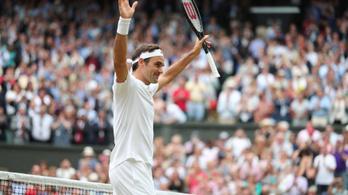 Federer tizenegyedszerre is döntős Wimbledonban