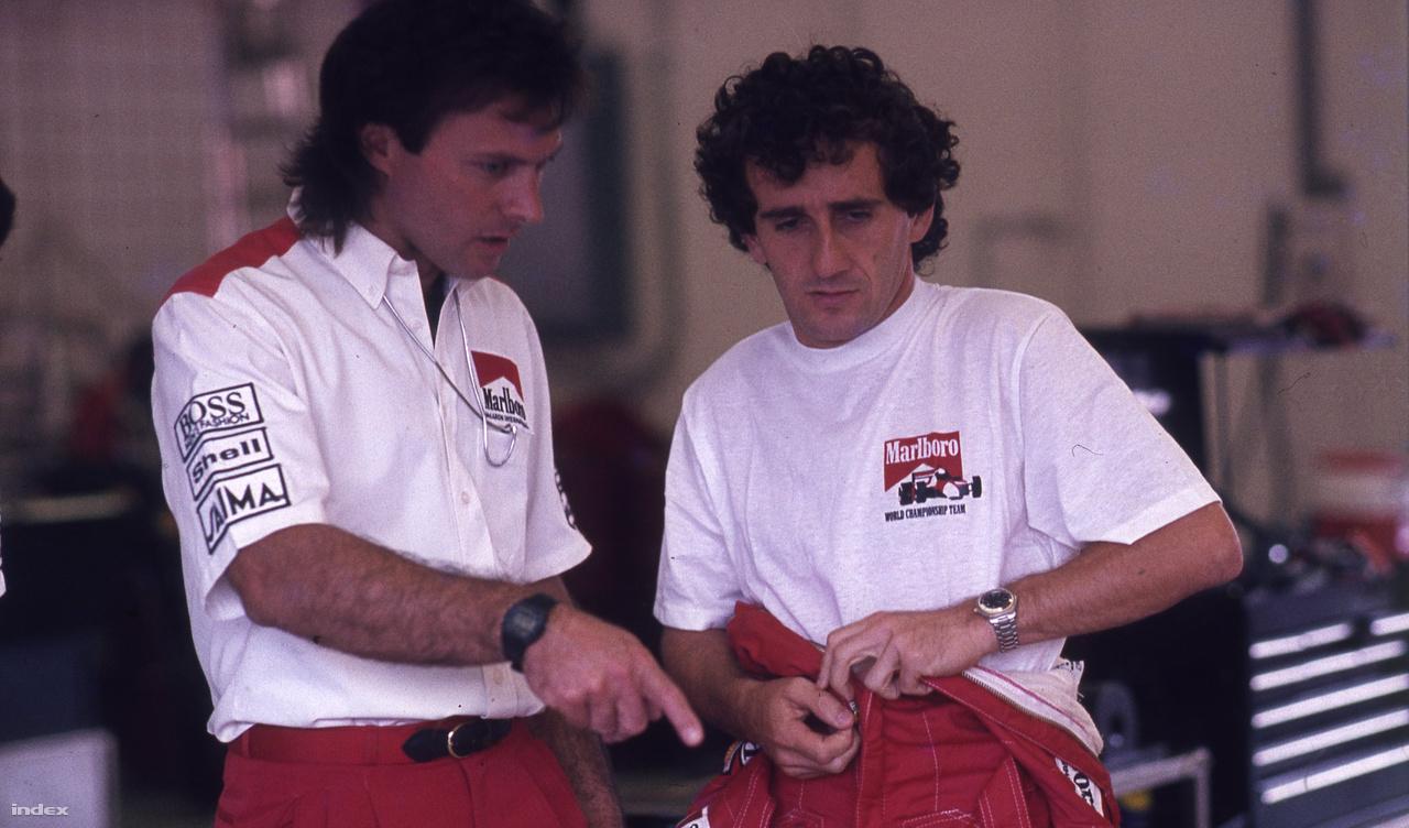 Alain Prost 51-szer nyert az F1-ben, de a Hungaroringen soha. Nem volt itt szerencséje, de a 88-as versenye Sennával klasszikus: a hajrában nagy nehezen megelőzte a brazilt az első helyért, de egy kanyar múlva el is veszítette azt. 86-ban harmadikként startolt, de a 23. körben feladta műszaki hibával.