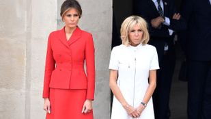 Melania Trump vagy Brigitte Macron volt a csinosabb Párizsban?