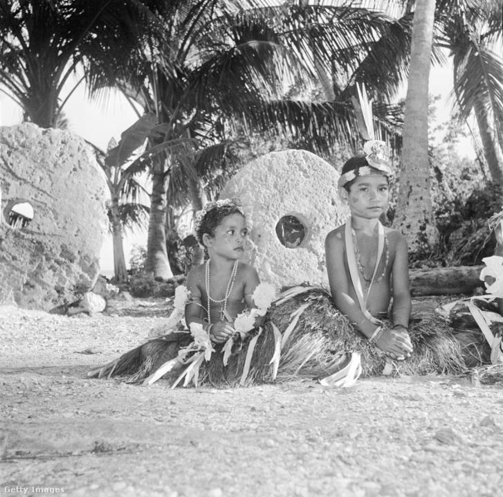 Kőpénz a Yap-szigeten 1955-ben