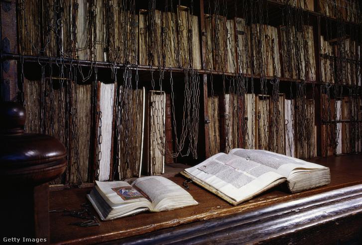 A herefordi katedrális könyvtára