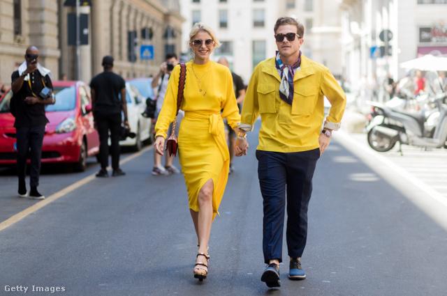 A női és férfi divatban is meghatározó lesz a sárga.