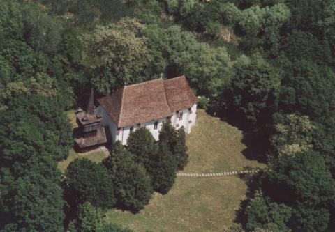 A légifotón látható nagyszekeresi templomot szintén felkeresi az örökségtúra