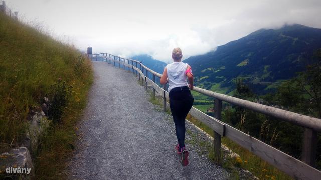 Itt például Ausztriában, a Gastein-völgyben futok hegynek fel, mert ugye miért ne