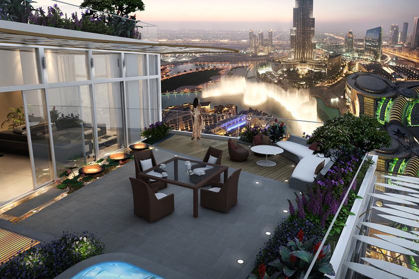 Aki a legdrágább luxuslakások között válogathat, szép számmal talál olyanokat is, melyek tervezése során a tetőterasznak is kiemelt szerepet szántak, nem véletlenül, hiszen a dubaji kilátás páratlan.