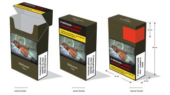 Itt az egységes csomagolású cigaretta