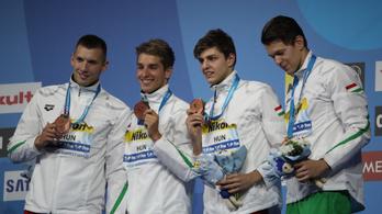 Óriási hajrával vb-bronzérmes a 4x100-as férfi gyorsváltó