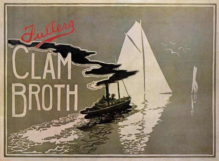 Fullers Clam Broth - 1899 - W. H. Walker (brit művész, aktív évek: XIX. sz vége-XX. sz eleje)