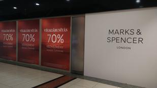 A hétvégén bezár a Marks&Spencer utolsó hazai üzlete