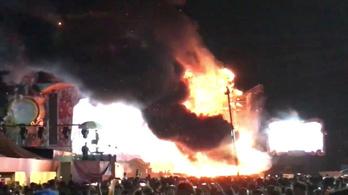 Tűz ütött ki a Tomorrowland barcelonai közvetítésén