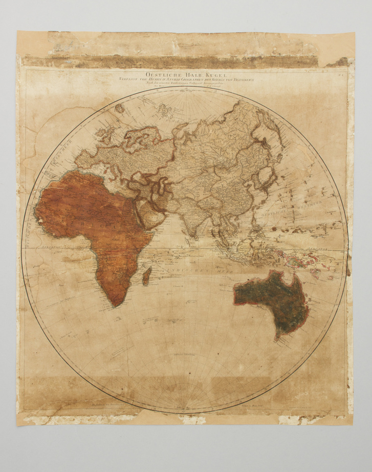 Fa Lili Eszter munkái, a XVIII.századi atlaszlapok restaurálás után