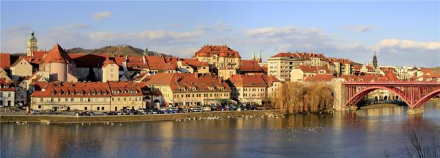A Dráva Maribor Lent városrészénél