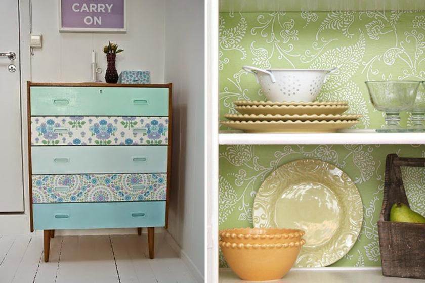 A bútorokat nemcsak festéssel lehet átalakítani, használhatsz öntapadós dekorfóliát is, melyet később el is tudsz távolítani.