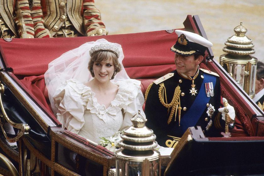 Sosem látott fotók kerültek elő Diana esküvőjéről - Így zajlott a ceremónia a kulisszák mögött