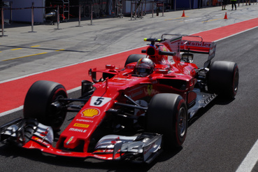 Délelőtt Sebastian Vettel vezette a Ferrarit, ilyen volt testközelből