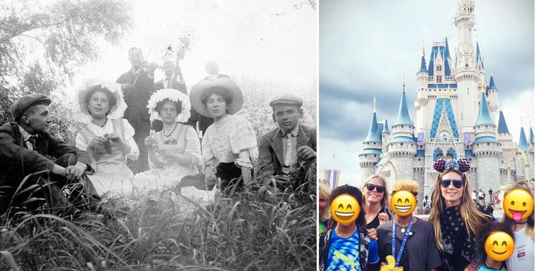 Így szórakoztak 1915-ben és így mulatott Heidi Klum Disneylandben.